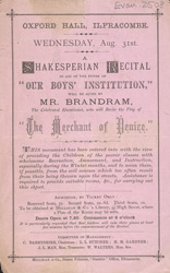 Advert for the Oxford Music Hall